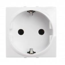 electrice bistrita-nasaud - priza schuko schneider unica, incastrata, modulara, 2m, alba - schneider - mgu3.036.18