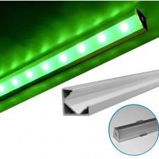 electrice bistrita-nasaud - profil aluminiu,pentru banda led, aparent, de colt, 2m - lumen - 05-30-05702