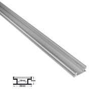 Profil aluminiu,pentru banda LED, ingropat, pentru pardoseala, 1m