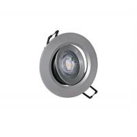 Spot LED reglabil, incastrat, rotund, 5W, 400 lm, 4000k, 90 mm, argintiu, IP 20